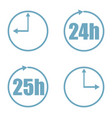 time set icon vector image