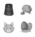 travel animal and other monochrome icon in vector image vector image