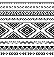Tribal seamless pattern aztec black and white