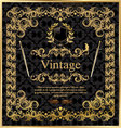 vintage gold black frame decor label vector image vector image