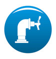 water tap icon blue vector image