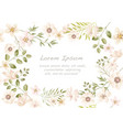 watercolor seamless floral background vector image vector image