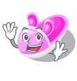 waving shoes baby above the character rak vector image vector image