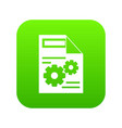 web setting icon digital green vector image vector image