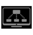 white halftone hierarchy monitor icon vector image vector image