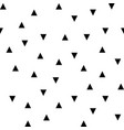 black random triangles seamless pattern vector image