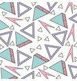 memphis style pattern triangle geometric shape vector image