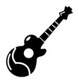 acoustic guitar icon simple style vector image vector image