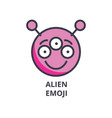 alien emoji line icon sign vector image