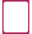 american flag border frame in red and blue colors vector image vector image