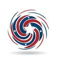american usa swirly color splash icon vector image