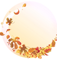 Autumn background with flying leaves vector image