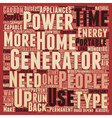 backup power home energy generator and sustainable vector image vector image
