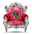 baroque armchair silver ornament vintage vector image vector image