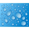 blue drops on the glass vector image vector image