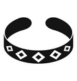 bracelet icon simple style vector image