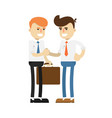 business meeting concept with smiling men vector image vector image