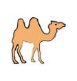 camel cartoon silhouette vector image vector image