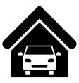 Car Garage Flat Icon vector image