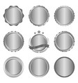 collection of modern metal silver circle metal vector image vector image