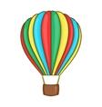 Colorful air balloon icon cartoon style vector image vector image