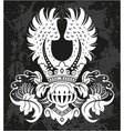 decorative frame with crown and helm vector image vector image