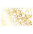 dresden germany city map in retro style in golden vector image