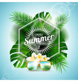 enjoy summer holiday typographic design vector image vector image
