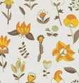 Flower seamless texture Endless floral pattern Can vector image vector image