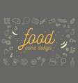 food icons design set vector image vector image
