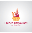 french restaurant vector image vector image