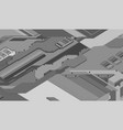 futuristic surface of low-poly elements and parts vector image