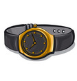 gold wrist watches vector image