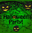 halloween greeting cartoon poster vector image vector image