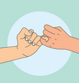 hand holding promise vector image vector image