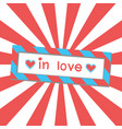 inlove vector image