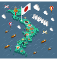 Japan Touristic Isometric Map vector image vector image
