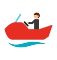 jet ski isolated icon design vector image vector image