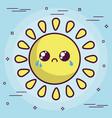 kawaii sun icon vector image vector image