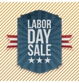 Labor Day Sale paper Emblem vector image vector image