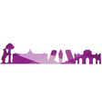 landscape city silhouette vector image