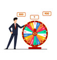 lottery with wheel fortune vector image vector image