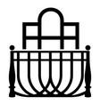 luxury balcony icon simple style vector image vector image