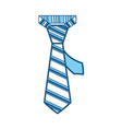 male executive tie vector image vector image
