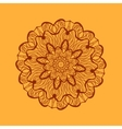 Mandala-like coloring work texture Hand-drawn new vector image vector image