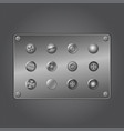 metal screws vector image