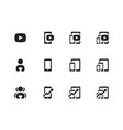 mobile phone chart icons vector image vector image
