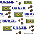 national flag and coffee beans brazilian symbols vector image vector image