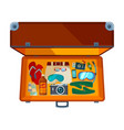Open suitcases of open suitcase with