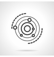 Planet orbits icon black line icon vector image vector image